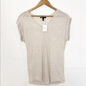 MNG by Mango | Muted Leopard Print V Neck T-shirt